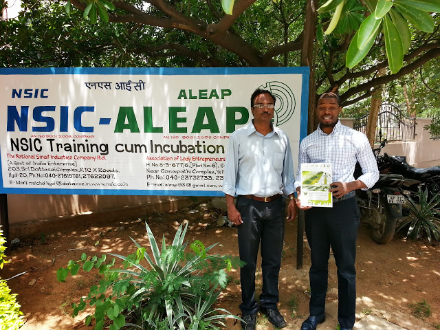 M.Washington with Project Manager A. Ajay Babu of Association of Lady Entrepreneurs of Andhra Pradesh (ALEAP). The association serves as a full service incubator for women entrepreneurs. Learn more about ALEAP