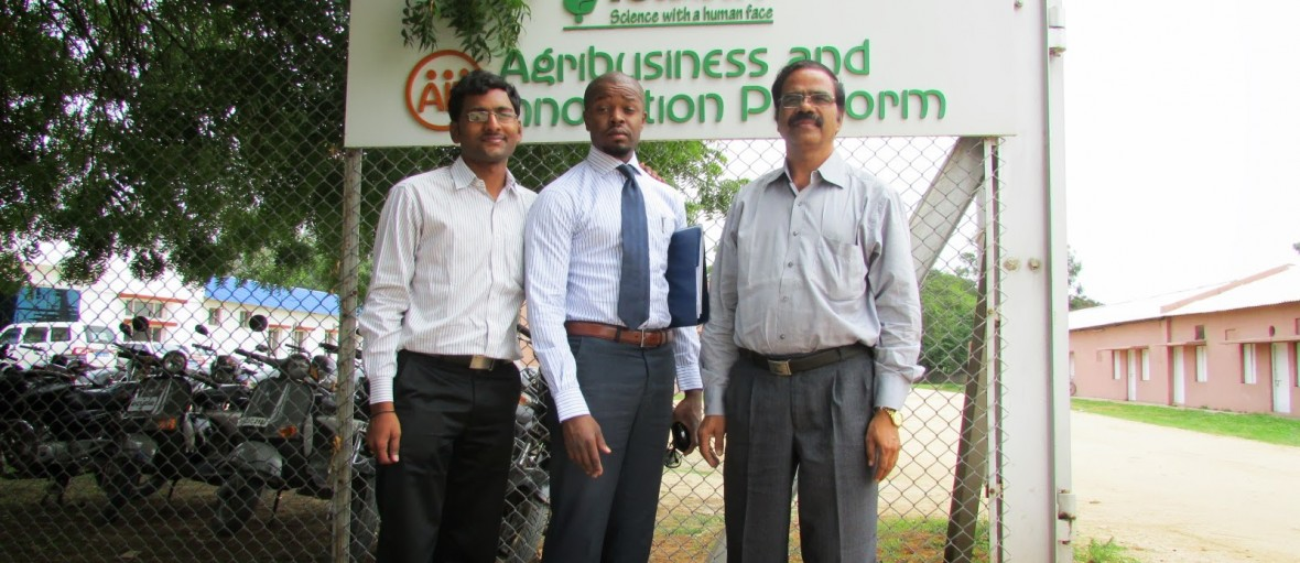 Rupesh Manne, M.Washington, MSK Reddy, a Living Proof India partner in food solutions attend meeting in ICRISAT.