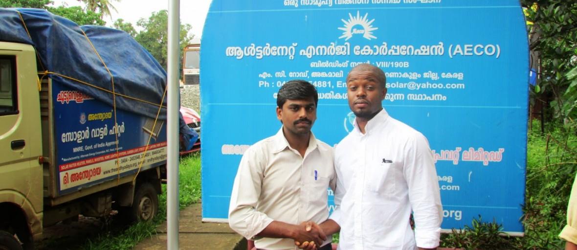 M.Washington and Andhyodaya solar energy solutions technician